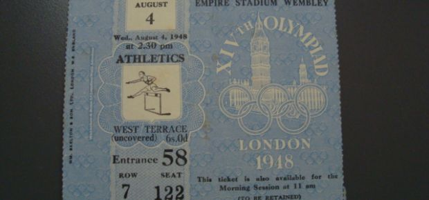 1948 Olympics athletics ticket