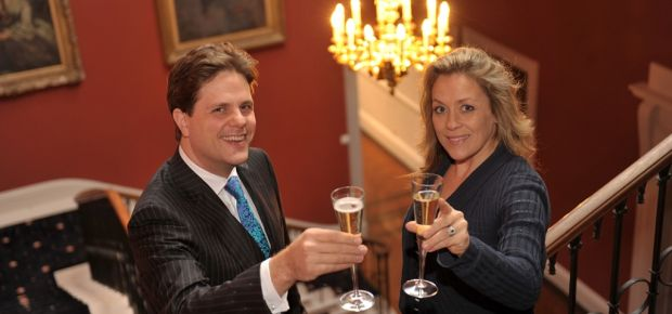 L-R Managing Director of Dine, Daniel Gill with Sarah Beeny