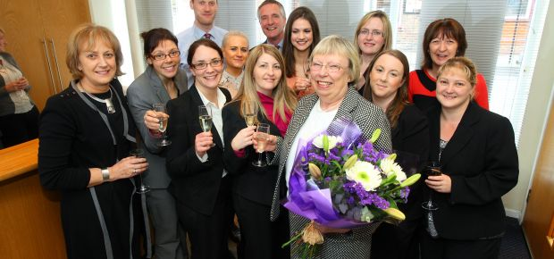 Mary Everitt celebrates her retirement