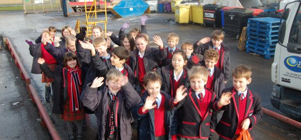 Pupils from Yarm Preparatory School visit J & B Recycling
