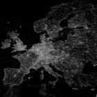 OpenStreetMap GPS trace density in and near Europe