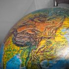 China on a globe