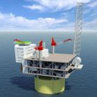 A graphic of the Aasta Hansteen platform