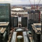 High up in Canary Wharf